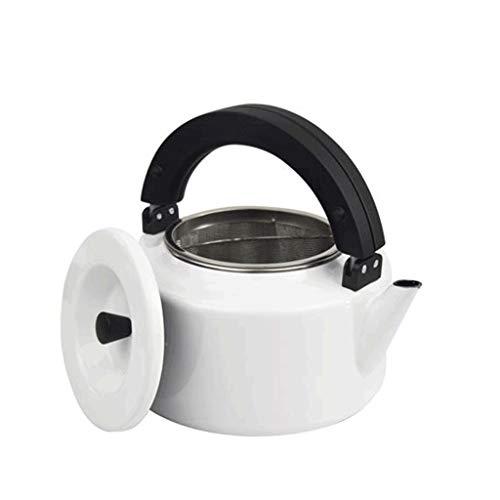 HJJ Edelstahlkessel/Kettle, Haushalt Pfeil Wohnung Gaskoch Teekanne mit Filter und Mehr Artikel weißen Emaille-Topf 2,3 Liter/Haushalt Whistle Kessel