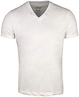 Hero EG White Mixed V Neck T-Shirt For Men