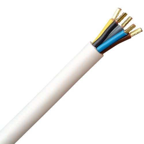Kopp 156002006 Herdanschlussleitung H05 VV-F 5G, 2.5 mm², 2 m, weiß