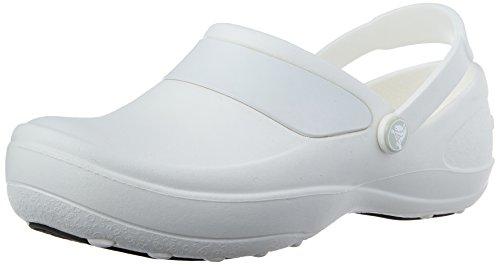 Crocs Mercy Work, Mujer Zueco, Blanco (White/White), 43-44 EU