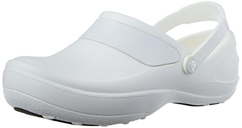 Crocs Women's Mercy Work Womens Clog (41 M EU / 11 B(M) US, White/White)