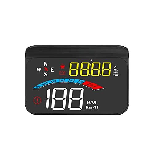 Odómetro M16 Head Up Pantalla GPS GPS Gaige PEQUEÑA Digital PEQUEÑA PROYECTOR DE Velocidad PROYECTOR DE Compass DE Voltaje KM/H Ajuste para Todos LOS Autos