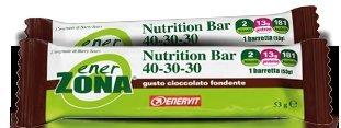 Enerzona Nutrition Bar Confezione da 25 Barrette Gusto Cioccolato Fondete
