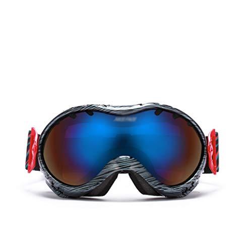 INOOY skibril voor skiën en snowboarden, uv bescherming, anti-mist, mannen, dames en kinderen