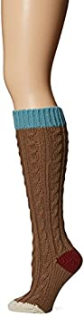 Muk Luks Women s 15   Knee High Socks brown One Size fits Most