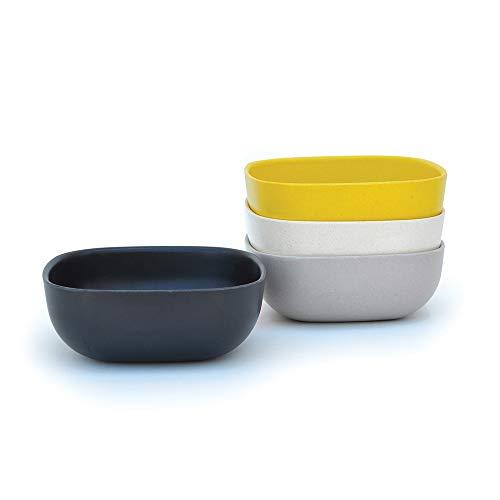 EKOBO Schale, schwarz/stone/weiß/lemon