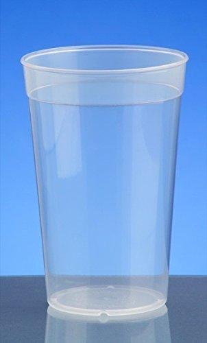 20er Set Mehrweg-Becher transparent 0,5l - Kunststoff