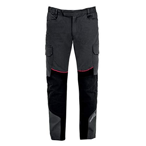 Sparco Huston Pantalone Tecnico multitasca in Tessuto Resistente con Inserti (S)