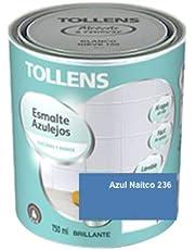 Tollens - Esmalte para azulejos al agua BRILLANTE 750 ml Impermeable, sin olor, acabado liso