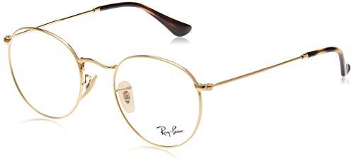 Ray-Ban Round Metal 3447V, Montature per occhiali uomo, Oro, 50