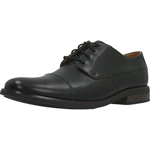 Clarks Men's Becken Cap Derbys, Schwarz (Black Leather), 43 EU
