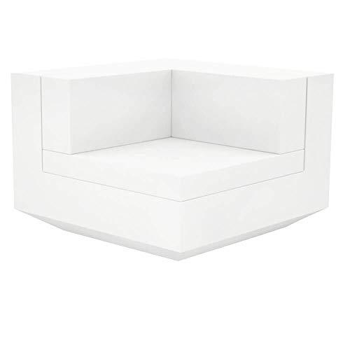 Vondom Vela canapé modulo angle à 90° blanc