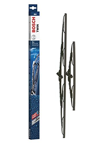 Bosch Twin 654 Tergicristalli, Lunghezza 650 mm/340 mm – 1 Set per Parabrezza (Anteriore)