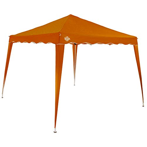 Deuba Pavillon 3x3m wasserdicht inkl Tasche Faltpavillon Capri UV-Schutz 50+ Partyzelt Gartenpavillon Pop up Zelt Orange