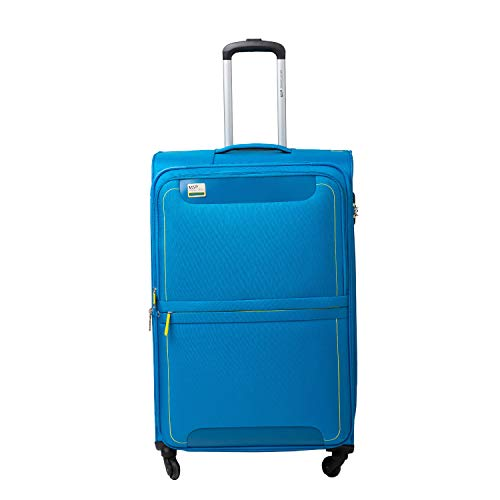 VIP Pisa Polyester 78 cms Blue Softsided Check-in Luggage with Anti-theft Zipper