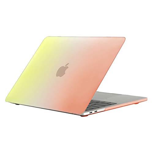 kkkie hoes compatibel met MacBook Air 13 inch (A1932) beschermhoes ultradun kleurverloop rubberen harde schaal beschermhoes voor Apple MacBook Air