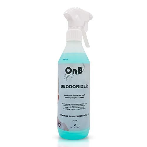 OnB-Deodorizer Nachhaltiger Geruchsentferner Spray für die Wohnung, das Auto, oder Haustiere, Umweltfreundlicher Geruchsneutralisierer/Geruchskiller gegen Schweiß oder Urin (1er Pack)
