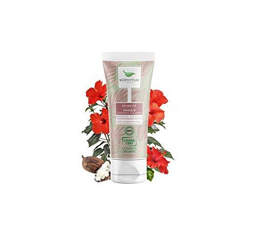 Biophytum   Masques Cheveux Colorés Bio   Sans Sulfate - Vegan   Fleurs d'Hibiscus   Hydratant, Réparateur, Tonifiant, Astringent   Facilite le démêlage   99,26% Naturel   200 mL