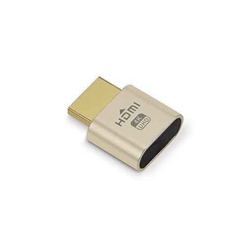 HDMI仮想ディスプレイ【1個入り】 HDMIダミープラグ DDC EDIDエミュレーター リモートワーク HDMI UHD 4K@60HZ 1個/4個/12個 最新版