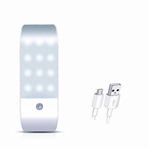Lámpara de detección de infrarrojos humana Smart LED Gabinete Corredor USB Carga de la noche creativa