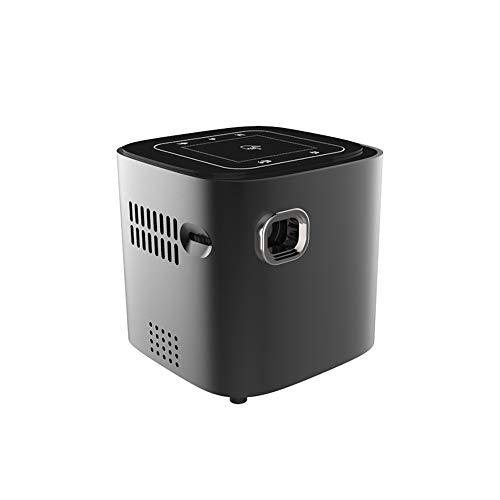 Heimkino tragbar Projektor DL-S12 tragbare Mini-50 ANSI Lumen DLP Smart-Projektor mit Fernbedienung und Halter, Android 7.1.2, 2GB DDR3 + 16GB, RK3128 Quad Core ARM Cortex-A7 bis zu 1,2 GHz, Unterstüt