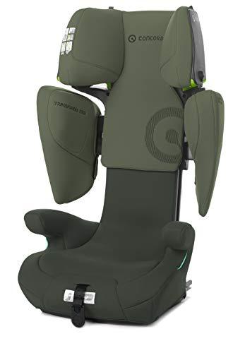 Concord Transformer iTech Silla de Coche iSize, de 100 a 150 cm, de 3,5 a 12 años, Isofix, Color Verde (FIR TREE GREEN)