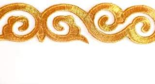 Embroidered Gold Swirl by Trim San Jose Mall 1 year warranty Shine