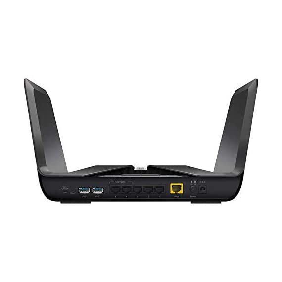 Netgear nighthawk ax8 8-stream ax5700 wi-fi 6 router 2 next-generation wifi 6 (802. 11ax) technology for the increasing demand for wireless connectivity high-performance wifi 6 for smart homes with 30 devices. 4x faster speeds than 11ac quad-core 1. 8 ghz processor enables smooth, bufferless 4k/8k ultra-high-definition (uhd) video streaming