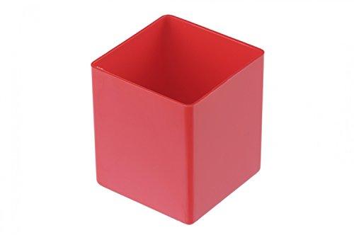 hünersdorff innerlåda av högslagfast polystyrol (PS), mått: 54 x 54 x 63 mm, färg: röd