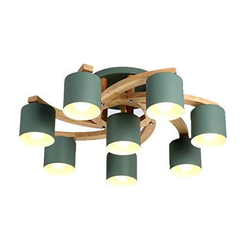 Ceiling Lamp Plafonnier Plafonnier Plafonniers Salon en Fer Forgé LED Plafonnier Chambre De Mode Créative Plafonnier Restaurant À La Maison (Color : Green, Size : 67 * 28cm)