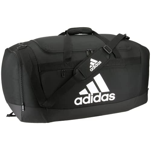 adidas Unisex-Erwachsene Defender 4 Large Duffel Bag Sportsack, schwarz/weiß, Einheitsgröße