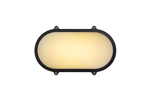 Lucide HUBLOT-LED - wandlamp buiten - LED - 1x12W 3000K - IP65 - antraciet
