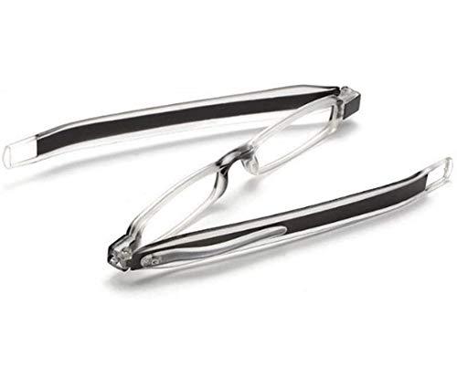 DBXOKK Gafas de lectura 360 ° giratorias plegables HD/presbicia masculina y femenina...