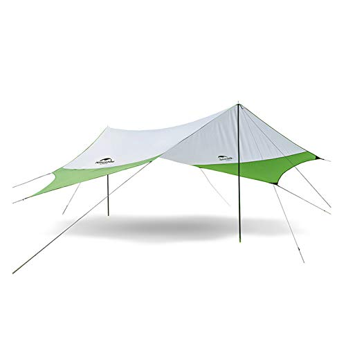 Camping Carpa Tienda de campaña para la Playa Sombra Sol Refugio toldo toldo con Postes, Ligero portátil Impermeable para Senderismo Pesca Picnic (Verde-M)