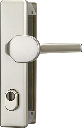 ABUS Tür-Schutzbeschlag HLZS814 F2 neusilber mit Zylinderschutz eckig 08418