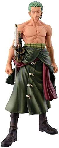 Gddg One Pieces Pop Anime Action Figura Roronoa Zoro PVC Figuras Coleccionables Modelo de Caracteres Estatua Estatua Toys Adornos de Escritorio