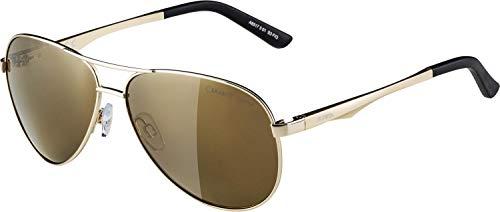 ALPINA Unisex - Erwachsene, A 107 Sonnenbrille, gold, One Size