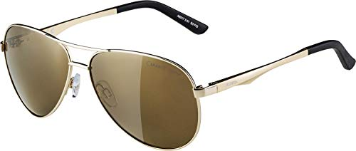 Alpina Sonnenbrille Casual A 107 Outdoorsport-brille, Gold, One Size