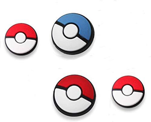 Lot de 4 capuchons de protection en silicone pour manette de Nintendo Switch, Joy-Con, Poke Ball et Pokeball