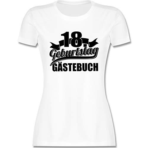 Geburtstag - 18. Geburtstag Gästebuch - schwarz - S - Weiß - 18 t-Shirt gästebuch - L191 - Tailliertes Tshirt für Damen und Frauen T-Shirt
