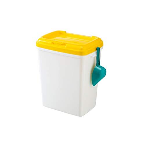 Jlxl Aufbewahrungsbox for Tiernahrung, Behälter for Trockenfutter for Hunde, Katzen, Vögel Usw. - Weiß/Blau (Color : A)