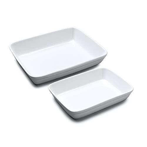 WM Bartleet & ‿Sons 1750 TSET180 Lot de 2 plats traditionnels en porcelaine Blanc 26 x 20 cm 31 x 24 cm
