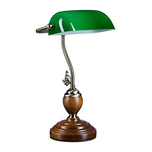 Relaxdays -   Bankerlampe