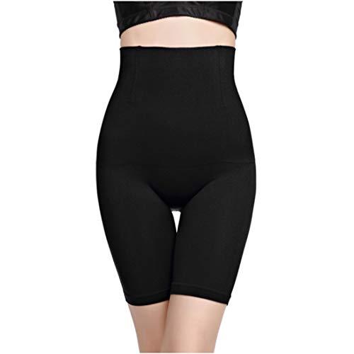 Miederhose für Damen - Shape Hose - Shapewear - Lange Hose - Miederpants mit Bein - Schwarz & Beige/Nude - bauchweg - figurformend - hohe Taille - Bauch-Weg-Effekt - (S,M, L, XL) (Schwarz, S)