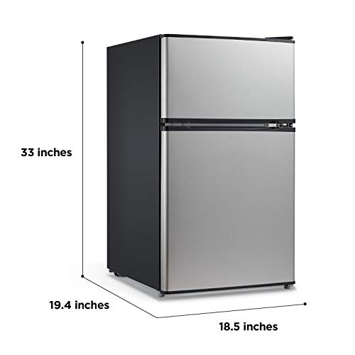 Midea WHD-113FSS1 compact refrigerator, 3.1 cu ft, Stainless Steel