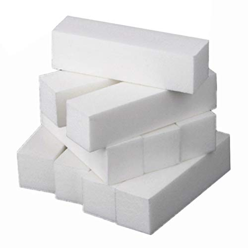 Minkissy 20 Stücke Nagel Puffer Block Schwamm Dateien Polierer Schwamm Schleifblock Dateien Maniküre Nail Art Pediküre Schleifwerkzeuge für Zuhause Salon