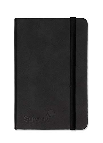 Silvine A6 Executive Soft Feel Notebook Black. 160 Pages (80 Sheets) Ruled...