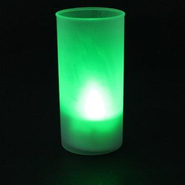 De sans flamme romantique Coup Son capteur LED bougie thé lumière