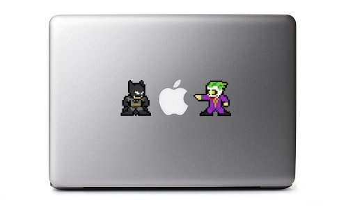 8-Bit Batman Vs. Joker Decal for MacBook, iPad Mini, iPhone 5S, Samsung Galaxy S3 S4, Nexus, HTC One, Nokia Lumia, Sony