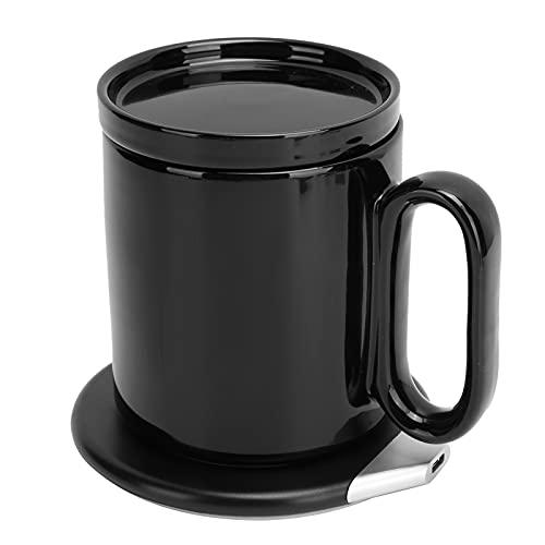 Calentador de Taza de Café, Calentador de Café Eléctrico 2 en 1, Calentador de Tazas Inteligente Multifuncional con Cargador Inalámbrico Taza de Café con Calefacción a Prueba de Agua con Control